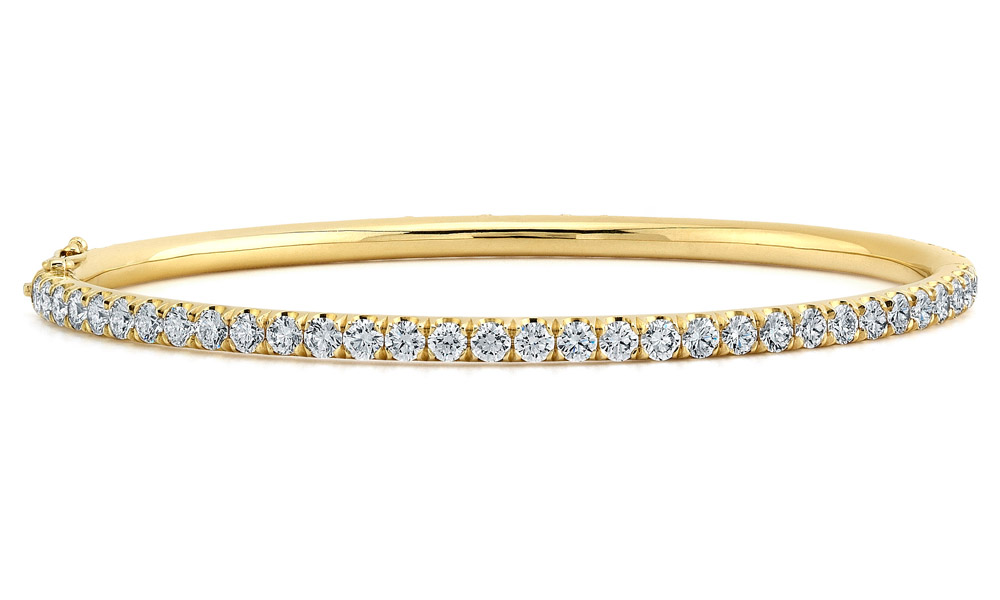pave bangle gr in diamond bangles flow prong gold bracelet ct black