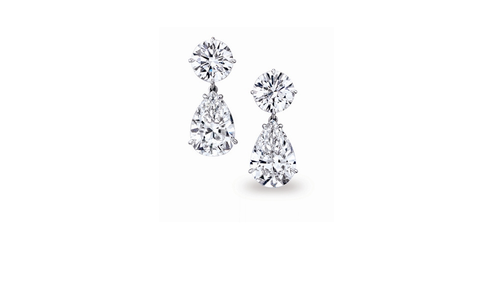 in save gold stud rose shaped diamond rogers heart earrings