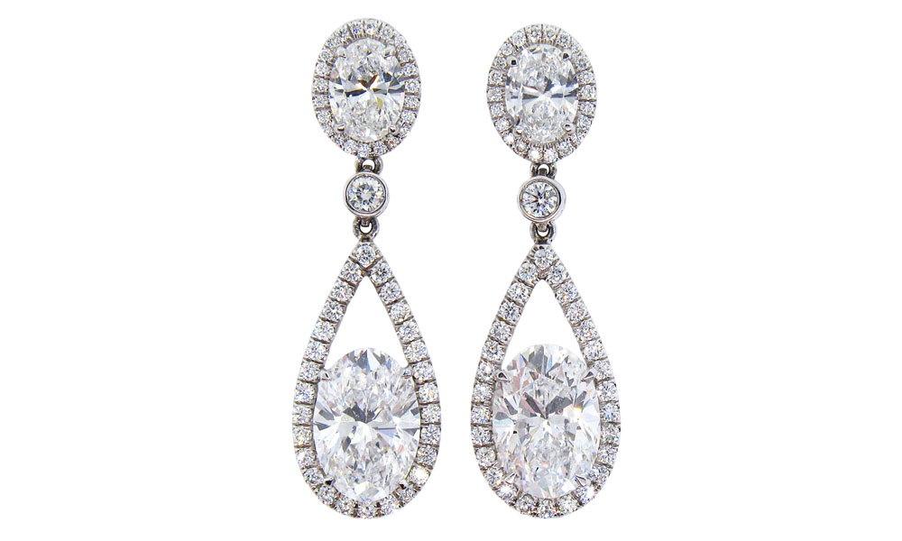 jewellery druzy earrings products teardrop small platinum ambrosia e