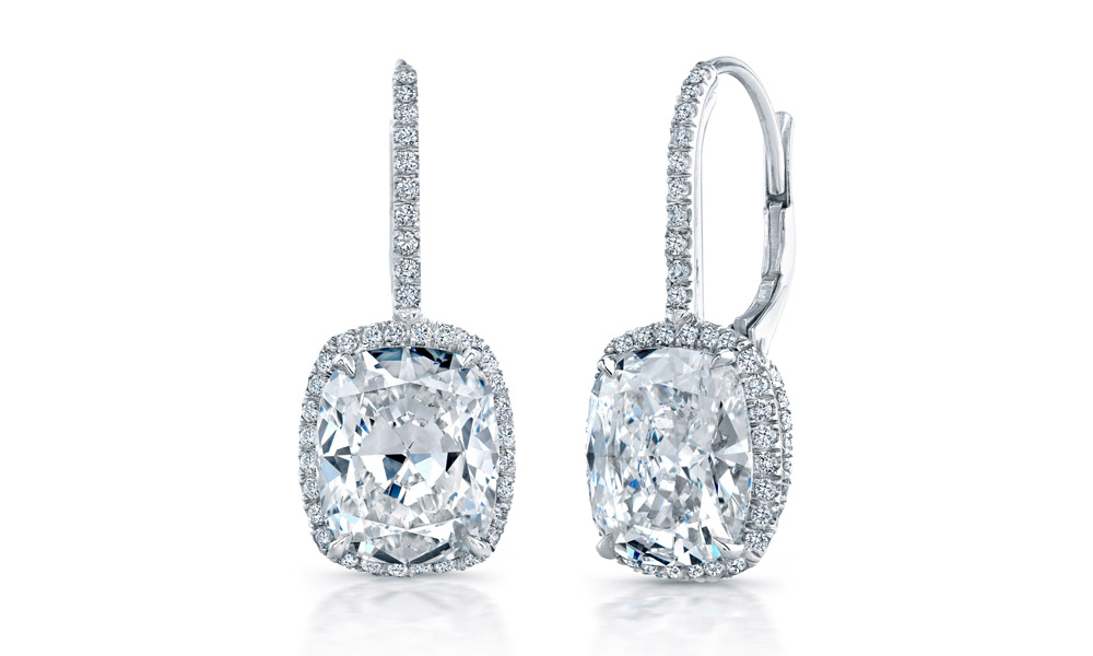 Diamond Earring Collection  Diamond Stud Earrings, Diamond Dangle