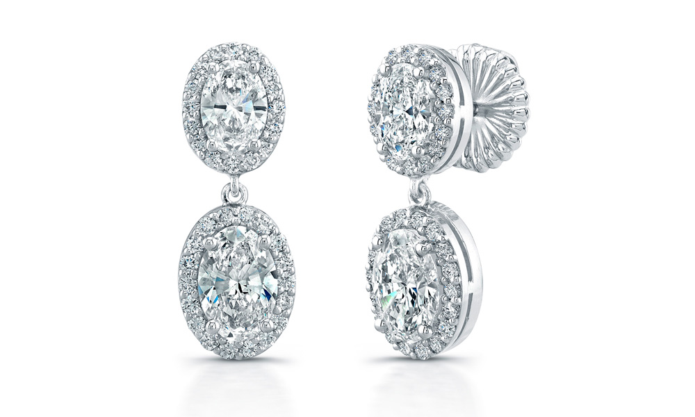 in rg for earrings with halo gifts nl oval her diamond jewelry shaped fascinating rose white gold stud