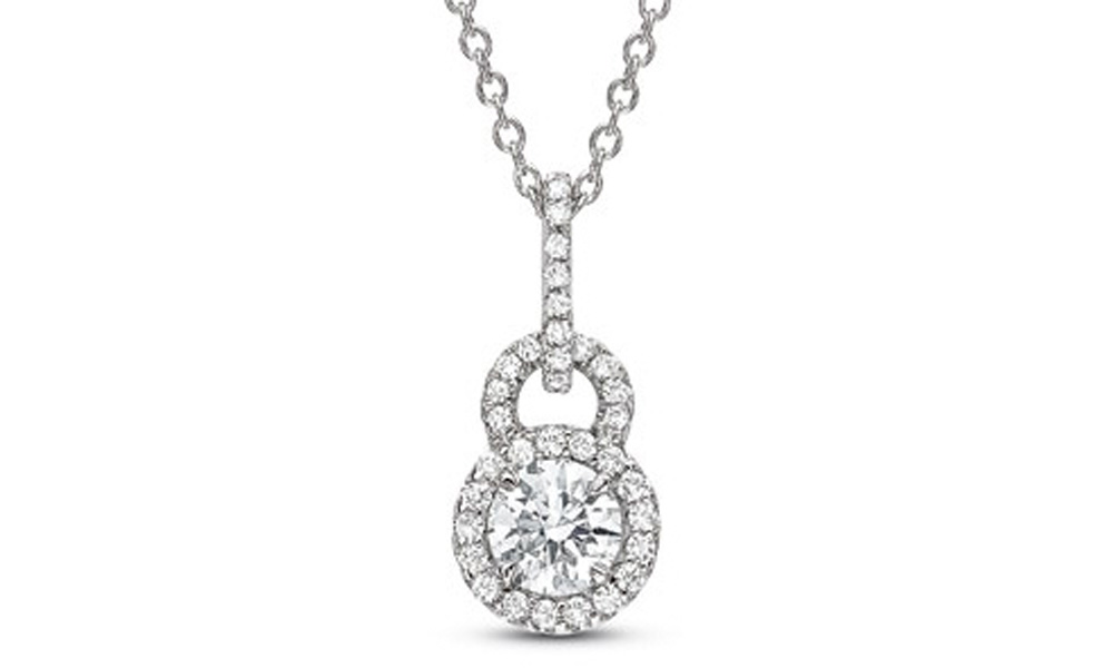 necklace tiffany diamond platinum jewelry and co flower pendant enchant