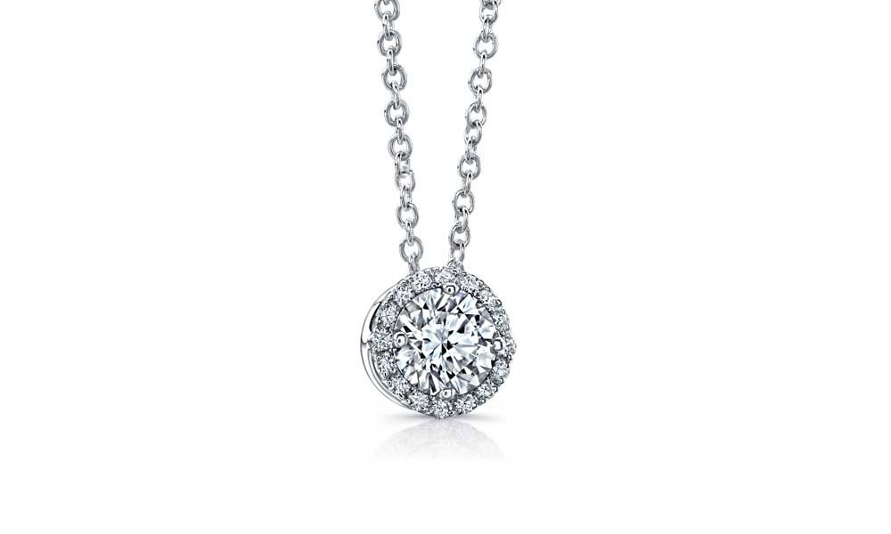 platinum filigree pendant necklace diamond deco art