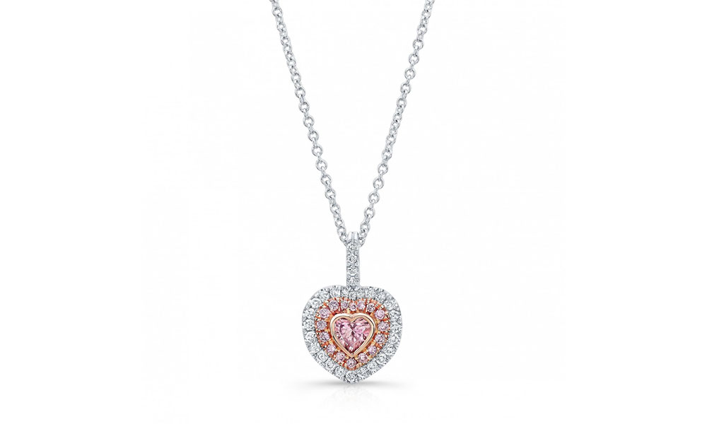 flower pendants diamond deco pendant pink large barmakian collections argyle necklace jewelers