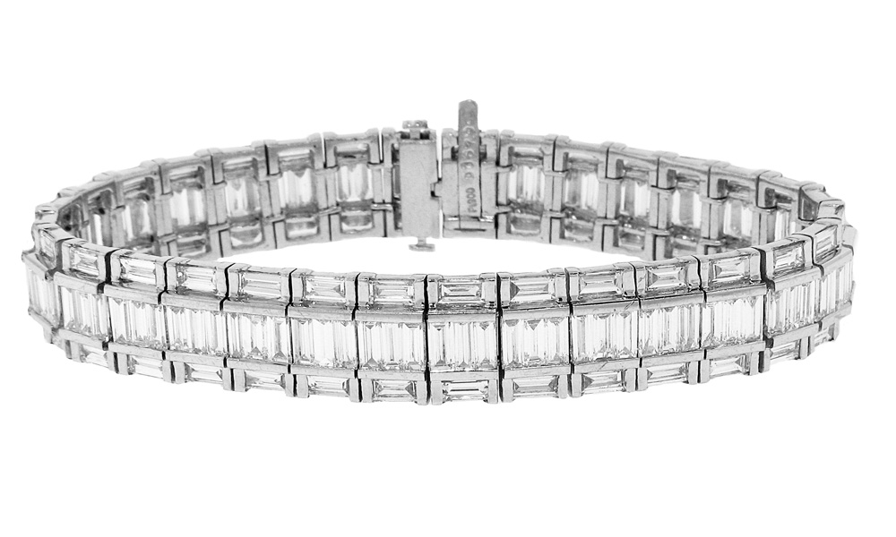 and e bracelet round baguette ladies diamond p