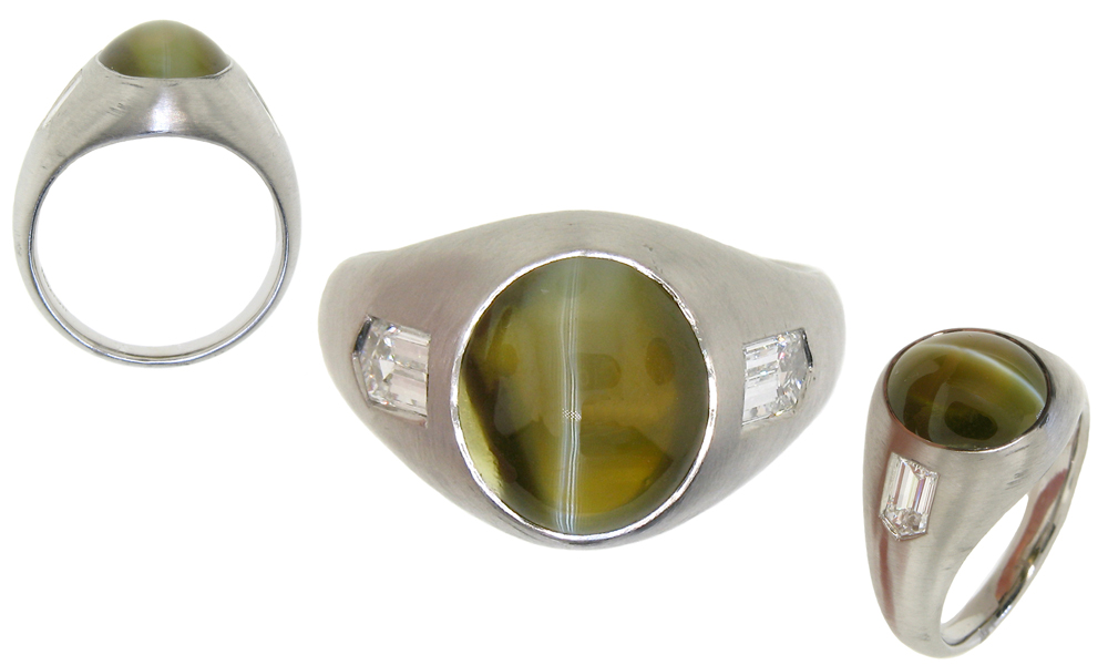 diamond ring vintage products chrysoberyl and halo cocktail rings